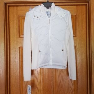NWT  ASHLEY 26 INTERNATIONAL WHITE HOODED JACKET